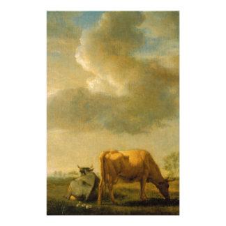 Kühe auf einer Wiese durch Adriaen van de Velde Briefpapier