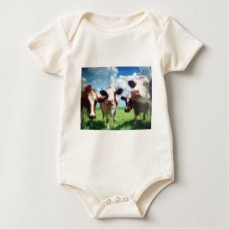 Kühe Baby Strampler