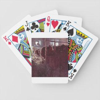 Kühe in der Scheune niedlich Bicycle Spielkarten