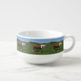 Kühe in der Weide Große Suppentasse