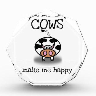 Kühe machen mich glücklich acryl auszeichnung