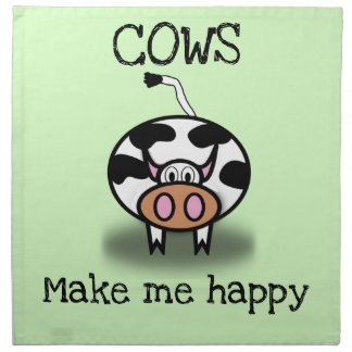 Kühe machen mich glücklich serviette