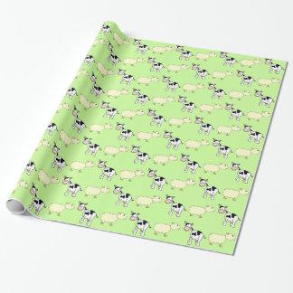 Kühe und Schafe Geschenkpapier