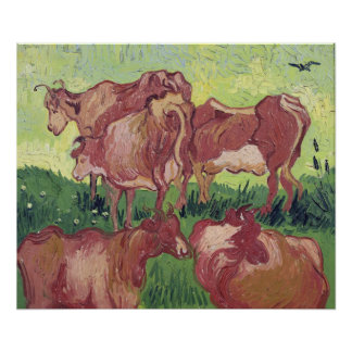 Kühe Vincent van Goghs |, 1890 Poster