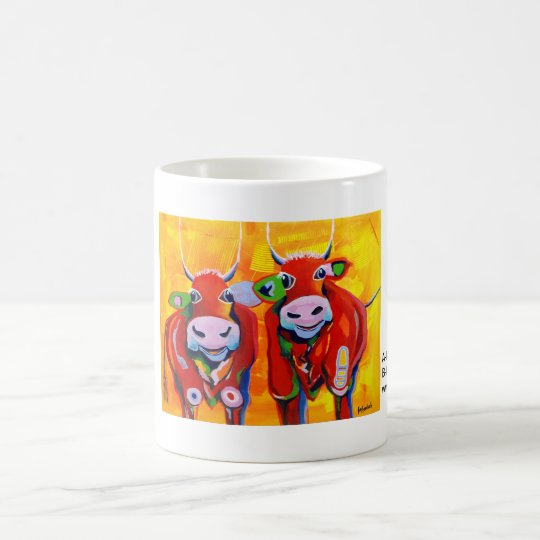 Kuhle Tasse: A-Hörnche und B-Hörnchen IV Kaffeetasse