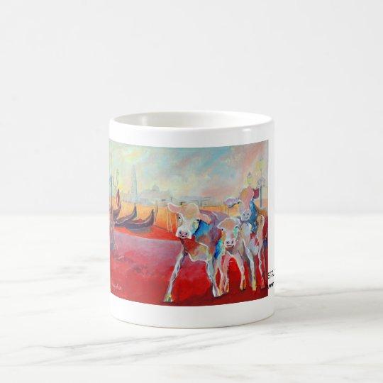 Kuhle Tasse: Stadtkühe in Venedig Kaffeetasse