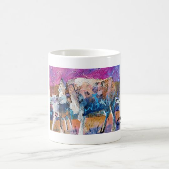 Kuhle Tasse: Violet und Lilalöl Kaffeetasse