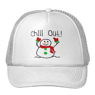 Kühlen Sie heraus Schneemann-T-Shirts und Geschenk Truckerkappe