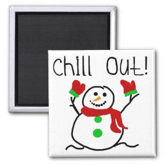 Kühlen Sie heraus Schneemann-T-Shirts und Geschenk Magnete