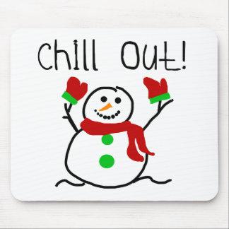 Kühlen Sie heraus Schneemann-T-Shirts und Geschenk Mauspads