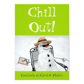 Kühlen Sie heraus: Winter-Cocktail-Party 12,7 X 17,8 Cm Einladungskarte