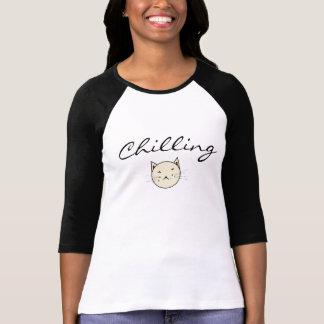Kühlende Katzen-Grafik T-Shirt