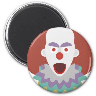 Kühlendes Blick-Monster Clown-Terror-Halloweens Runder Magnet 5,7 Cm