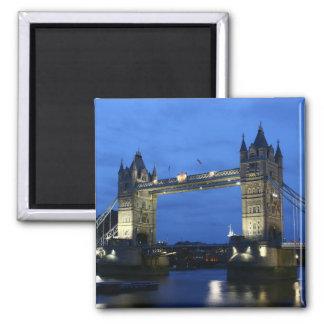 Kühlschrank-Magnet der London-Brücke in London Quadratischer Magnet