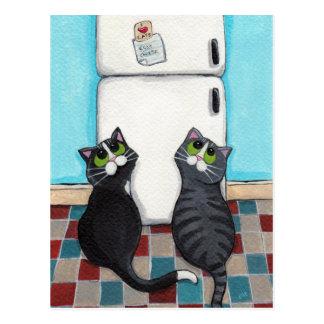 Kühlschrankmagnet-Postkarte