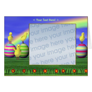 Küken auf Eiern (Fotorahmen) Karte