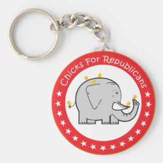 Küken für Republikaner Schlüsselanhänger