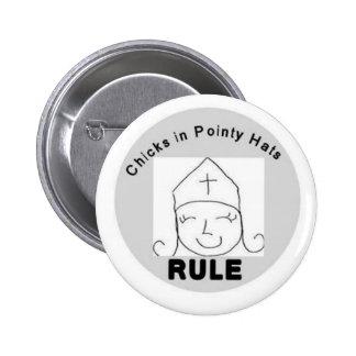 Küken im spitzen Hüte REGEL-Knopf Buttons