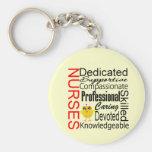 Küken-Spaß - Krankenschwester-Anerkennungs-Collage Schlüsselanhänger