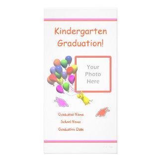 Küken-und Ballon-Kindergarten-Abschluss Photo Grußkarte
