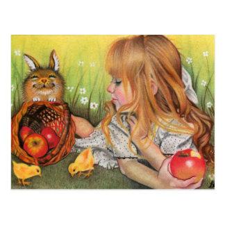 Küken- und Häschenpostkarte Postkarte