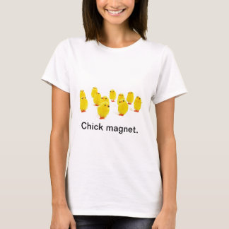 Kükenmagnet chillin mit meinem lustigen Foto der T-Shirt