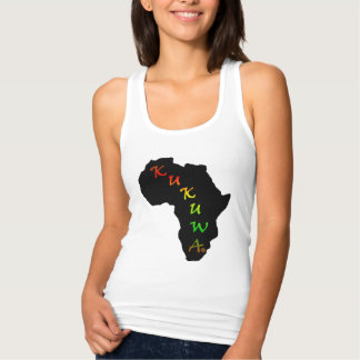 Kukuwa® afrikanisches Kontinent-Shirt Tank Top