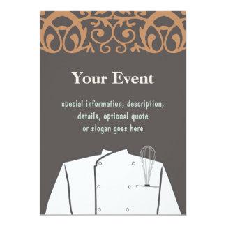 Kulinarische Kochs-Einladung 12,7 X 17,8 Cm Einladungskarte