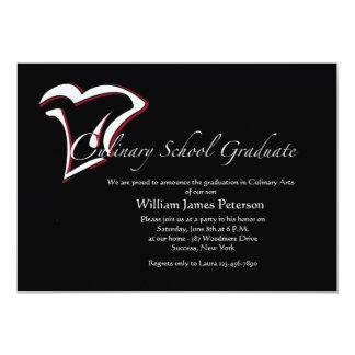 Kulinarische SchulAbschluss-Einladung 12,7 X 17,8 Cm Einladungskarte