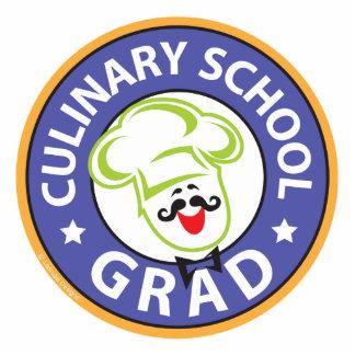 Kulinarischer SchulAbschluss Freistehende Fotoskulptur