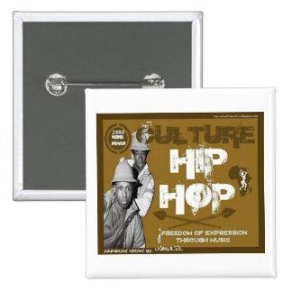 Kultur-angesagter HopfenBboys Knopf Quadratischer Button 5,1 Cm
