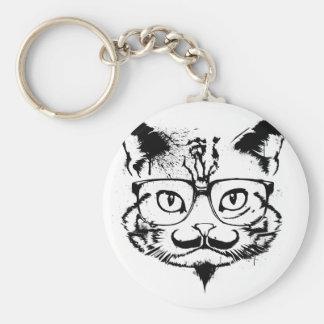 Kultur-Katze Standard Runder Schlüsselanhänger