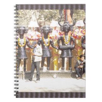 Kulturelle Showstatue Indiens der Musikerkünstler Notizblock