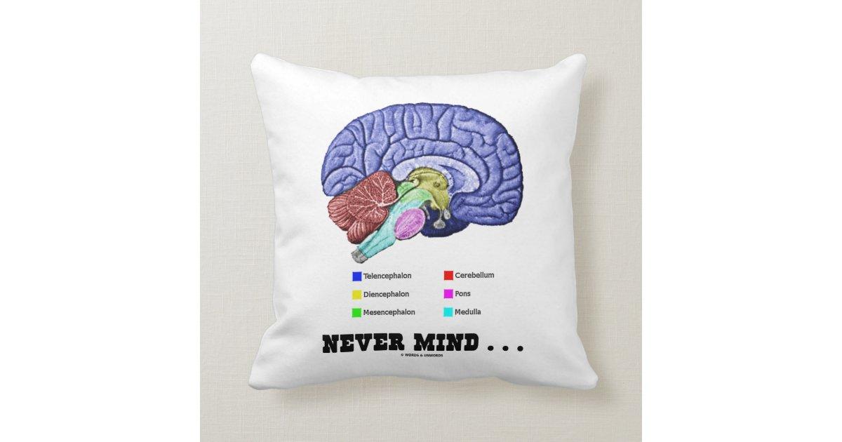 Kümmern Sie nie sich… (Gehirn-Anatomie-Spaß) Kissen | Zazzle
