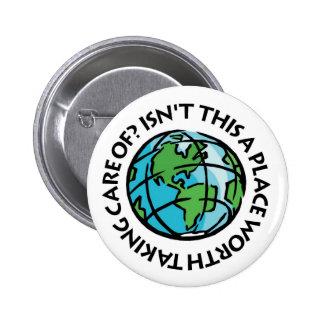 Kümmern Sie sich um der Erde Runder Button 5,7 Cm