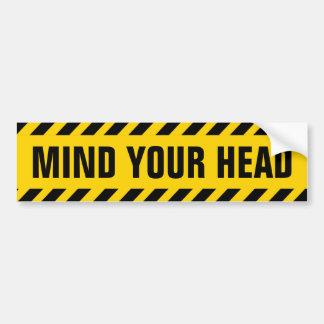 Kümmern Sie sich um Ihr Hauptvorsicht-Zeichen Autoaufkleber