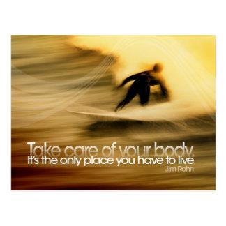 Kümmern Sie sich um Körper-motivierend Postkarte
