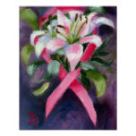 Kümmerte Brustkrebs-Bewusstseins-Plakat Poster