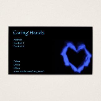 Kümmerte Hände Visitenkarte