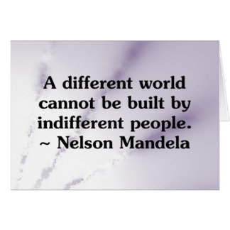 Kümmerte Leute kann die Welt ändern Karte