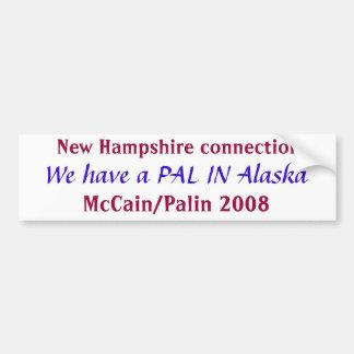 Kumpel in Alaska-Autoaufkleber Autoaufkleber