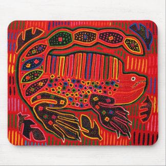 Kuna indischer LeguanMola Mousepad