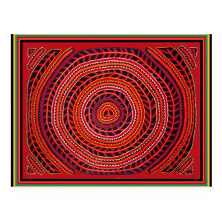 Kuna Stammes- universeller Sun Postkarte
