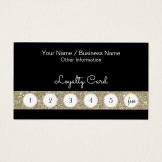 Kunden-Loyalitäts-Lochkarte mit Glitter-Bar Visitenkarte
