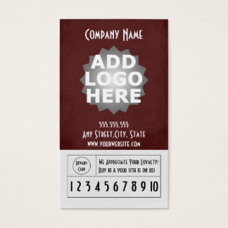 Kunden-Loyalitäts-Visitenkarte Visitenkarte