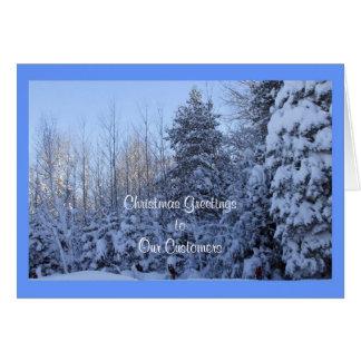 Kunden-Weihnachtsgruß gerahmt Karte