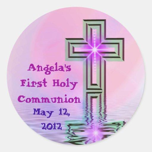 Kundengebundene erste heilige Kommunions-Aufkleber