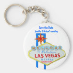 Kundengebundene Gelegenheit Las Vegas Save the Dat Standard Runder Schlüsselanhänger