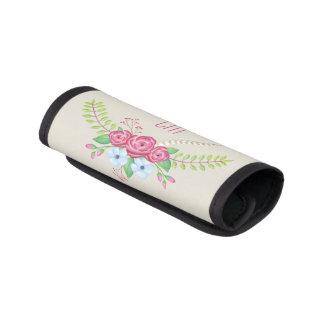 Kundengebundene hübsche Watercolor-Blume mit Gepäckgriff Marker