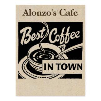 Kundengebundene Kaffeestube Postkarte